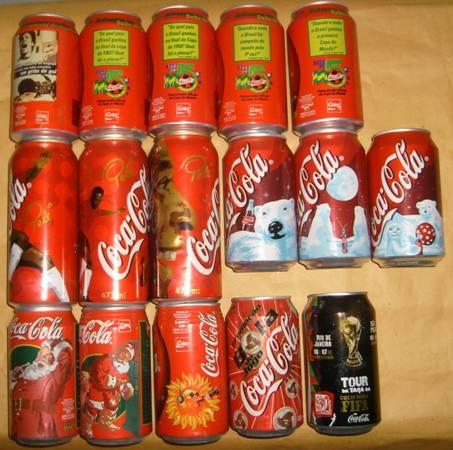 Coleção de Latas: Latas antigas da Coca-Cola